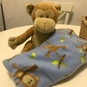 Other - Cute monkey and matching blanket